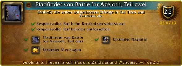 Battle for Azeroth Pathfinder Part 2