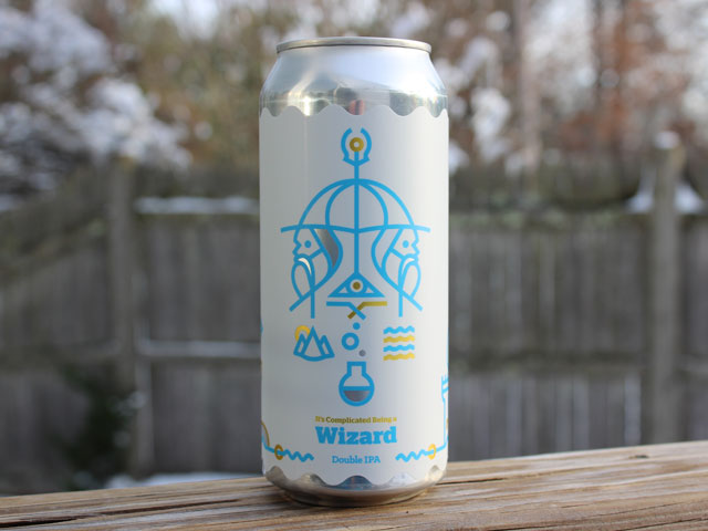 It's Complicated Being a Wizard, a Double IPA brewed by Burlington Beer Company
