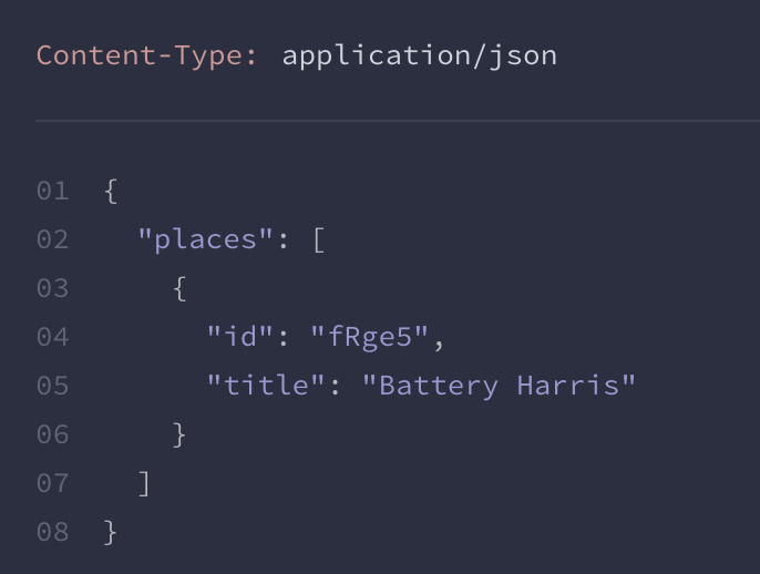 Output of JSON response in Apiary