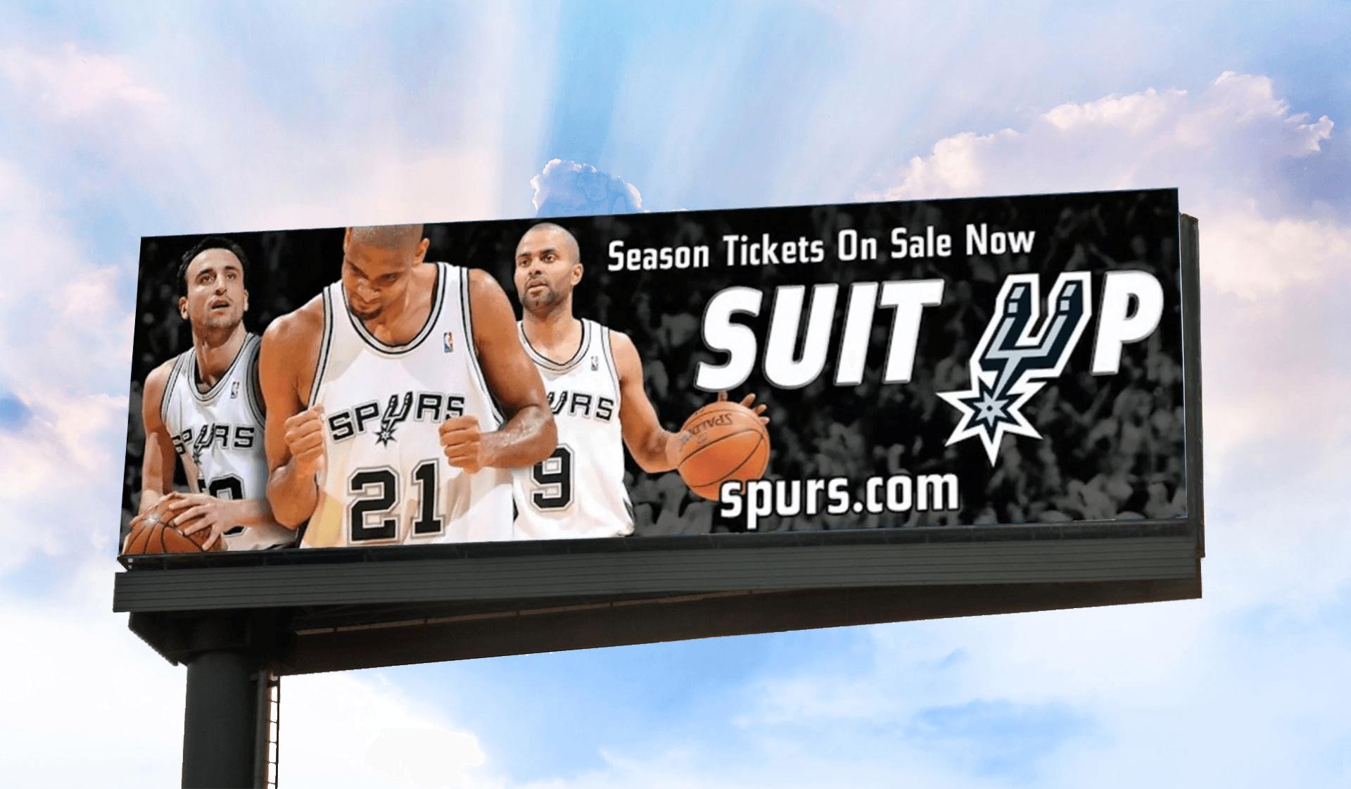 Spurs Suit Up Billboard