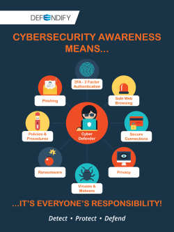 Cybersecurity awareness means...it's everyone's responsibility!