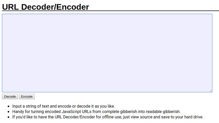URL encoder decoder