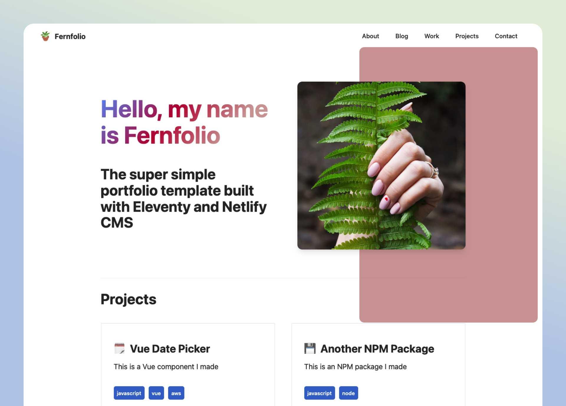 Fernfolio- cover