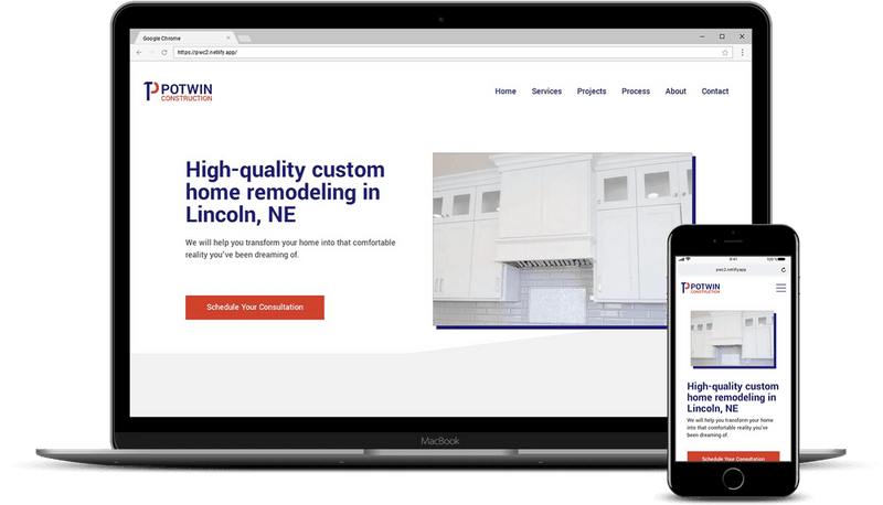Potwin Construction Website