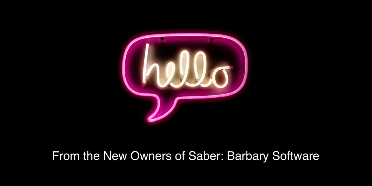 Hello from the new owners of Saber Feedback
