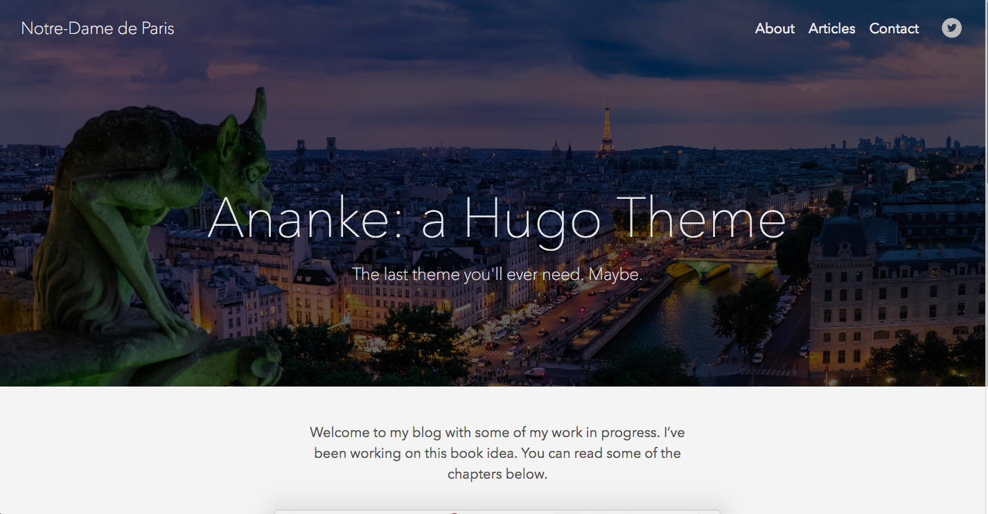 ananke, Hugo static theme