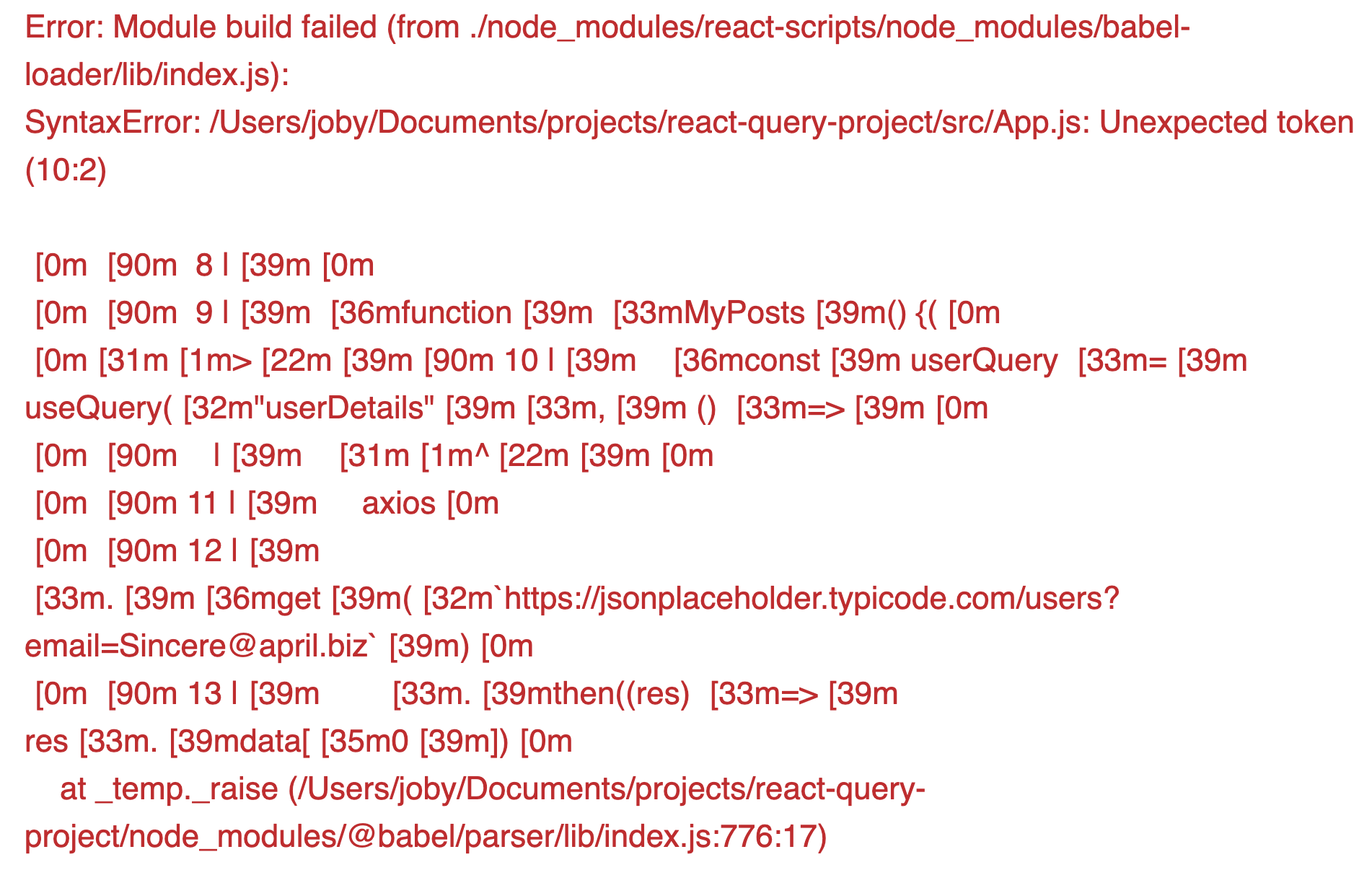 Module Build Error
