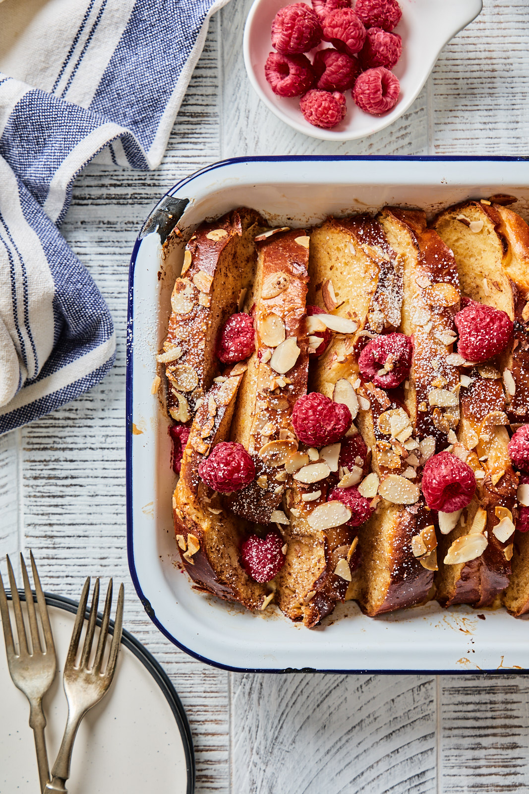 Baked Tsoureki French Toast ready to serve