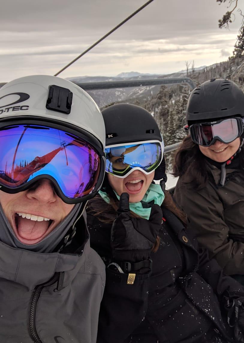 Mojos on ski lift