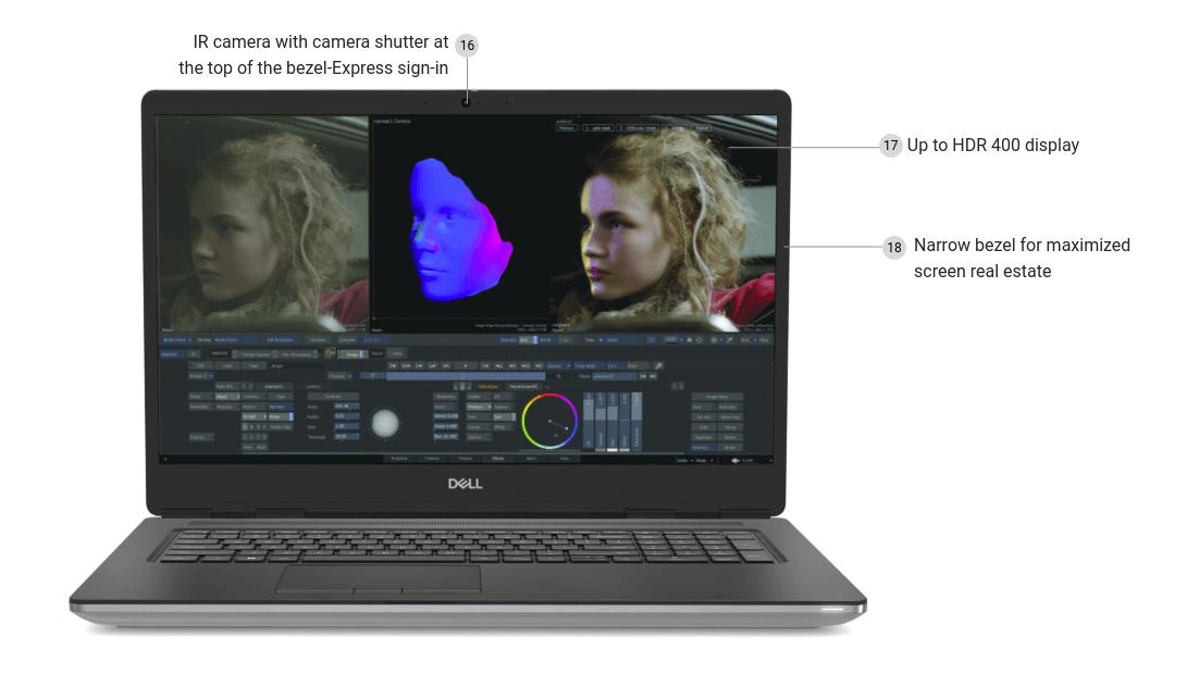 Dell Precision 7750 screen