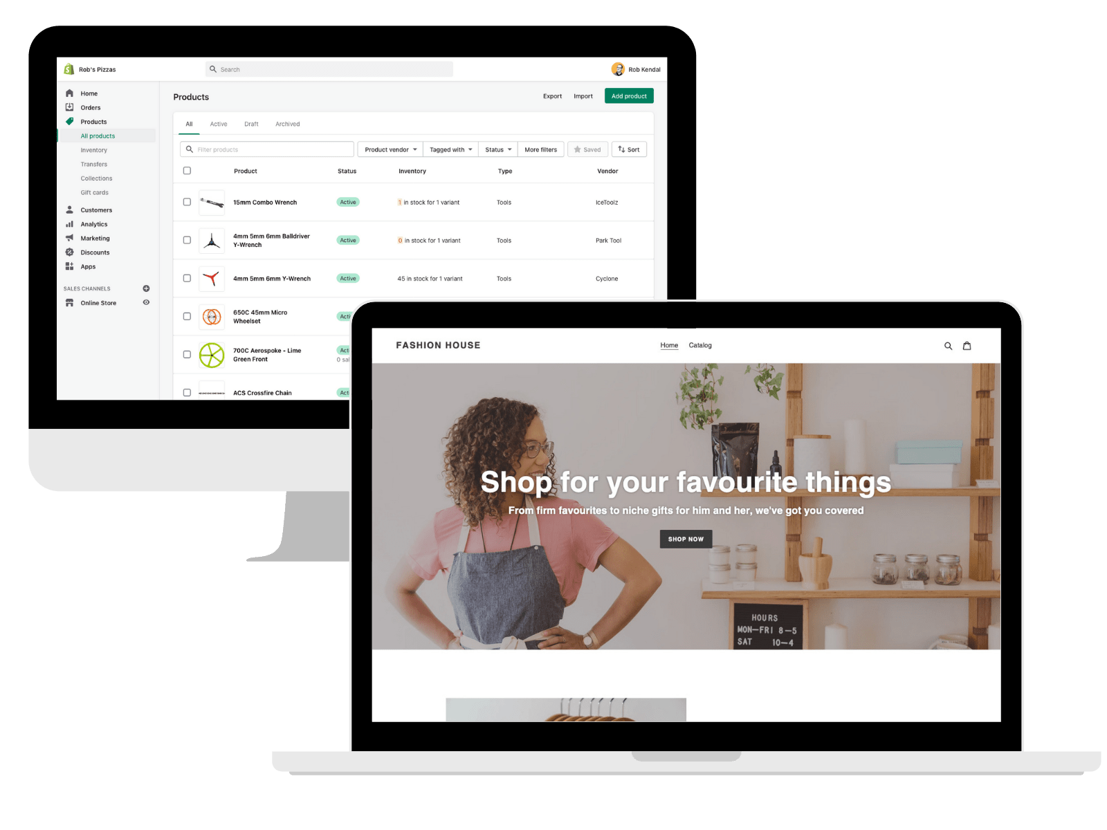 Shopify example website