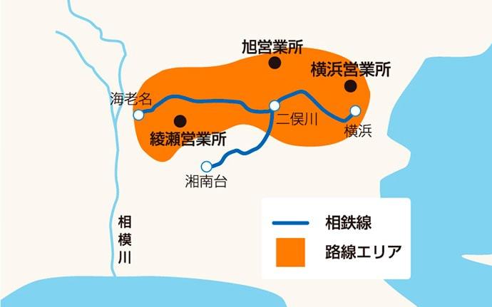路線エリア図
