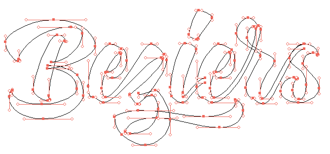 Letters Buzier Curve