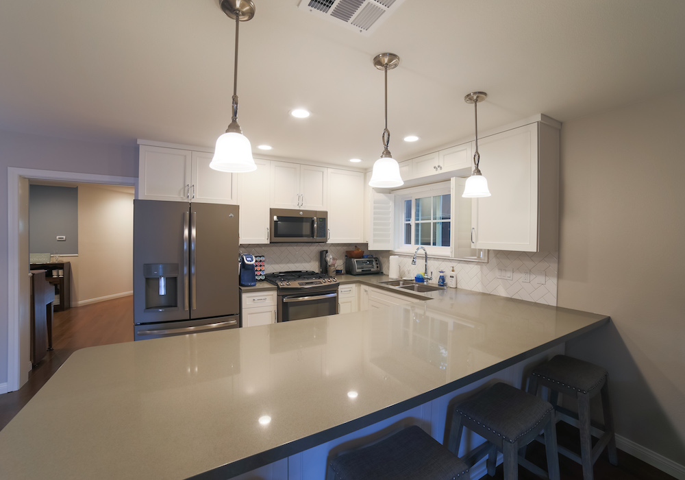 image of quartz kitchen countertops