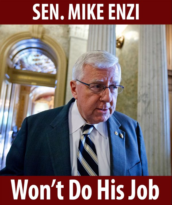 Senator Enzi won't do his job!