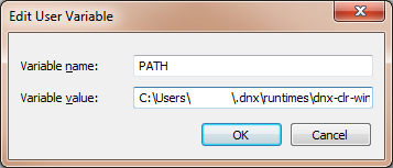 Edit User Variables