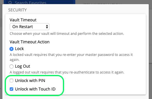 macOS unlock options