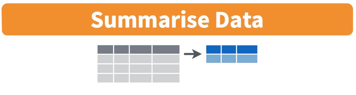 Diagram of summarize() rows.