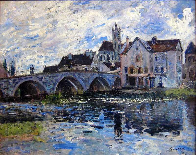 'Le Pont de Moret, effet d'orage', painted by Alfred Sisley in 1887, Musée Malraux, Le Havre