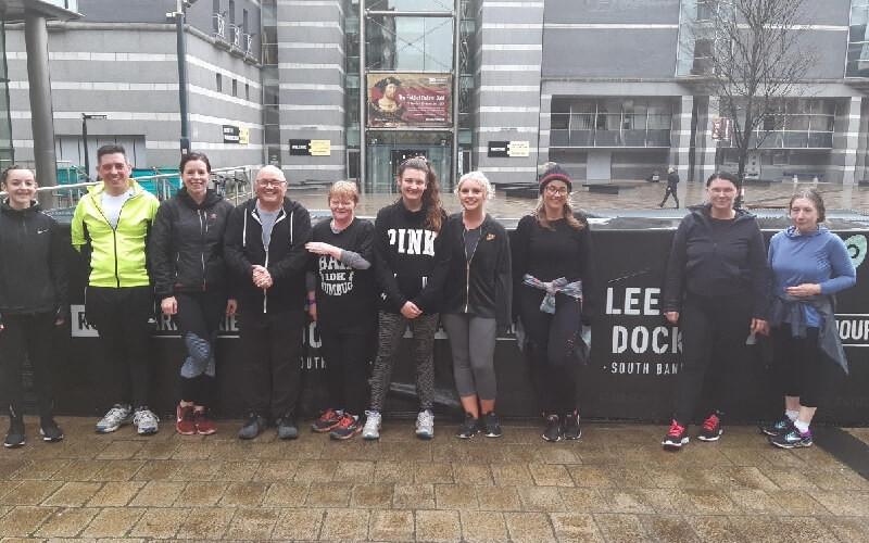 Leeds Dock Run group participants