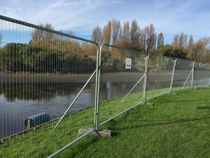 Lake Dredge Perimeter Fence Anti Climb Installed
