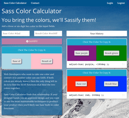 sass color calculator help developers find the function between two colors