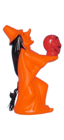 Electric Lite-Up Witch With Devil photo