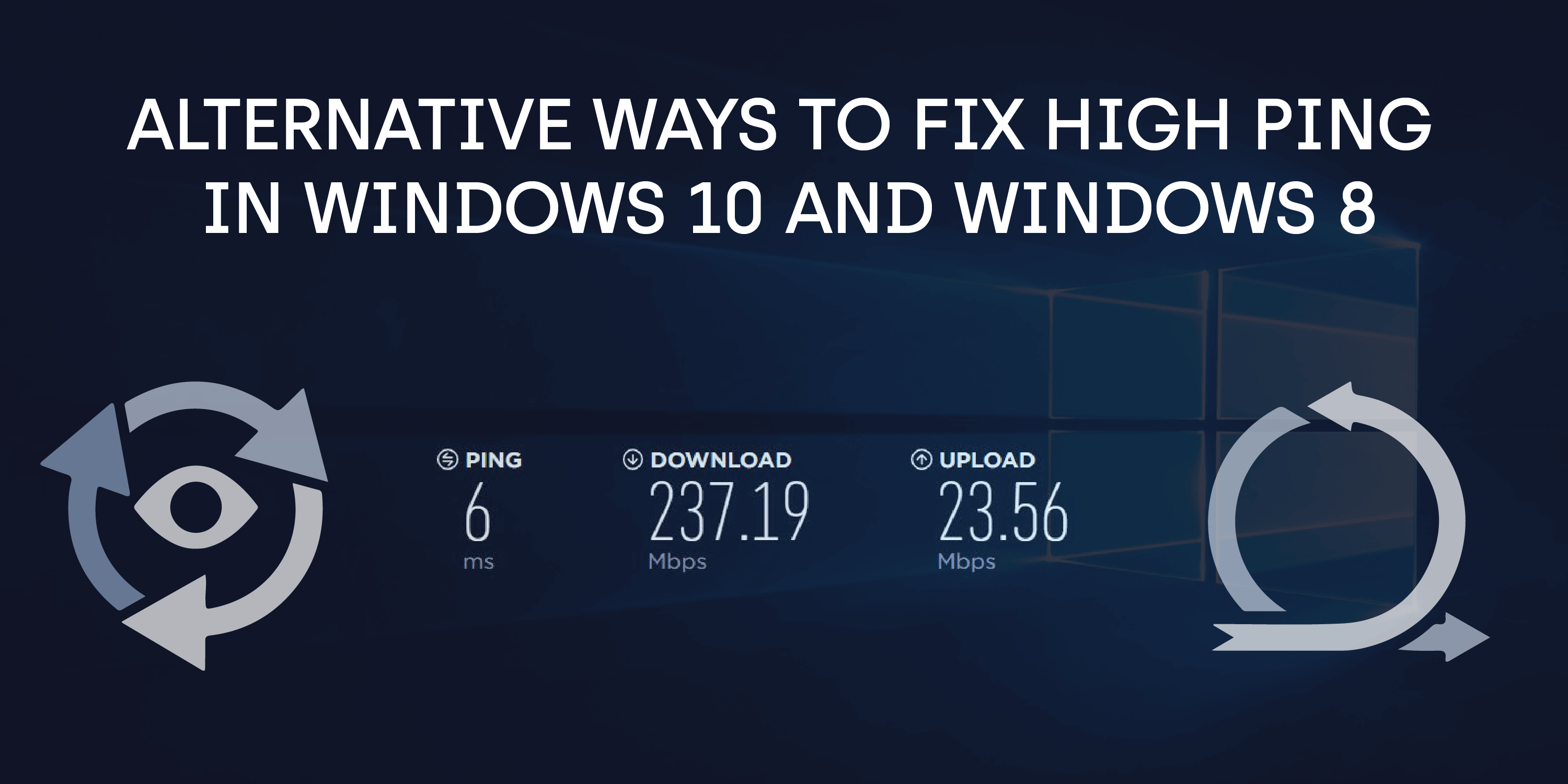 ALTERNATIVE WAYS TO FIX HIGH PING IN WINDOWS 10 AND WINDOWS 8