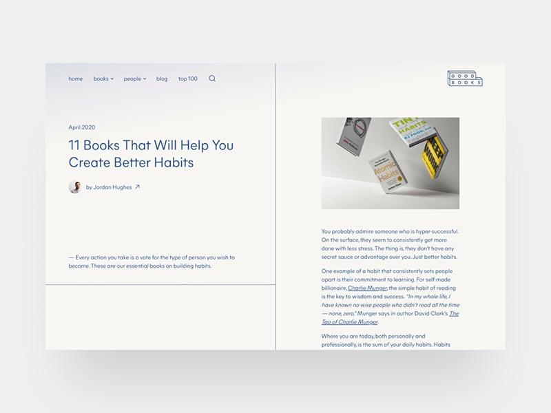Good Books — blog post
