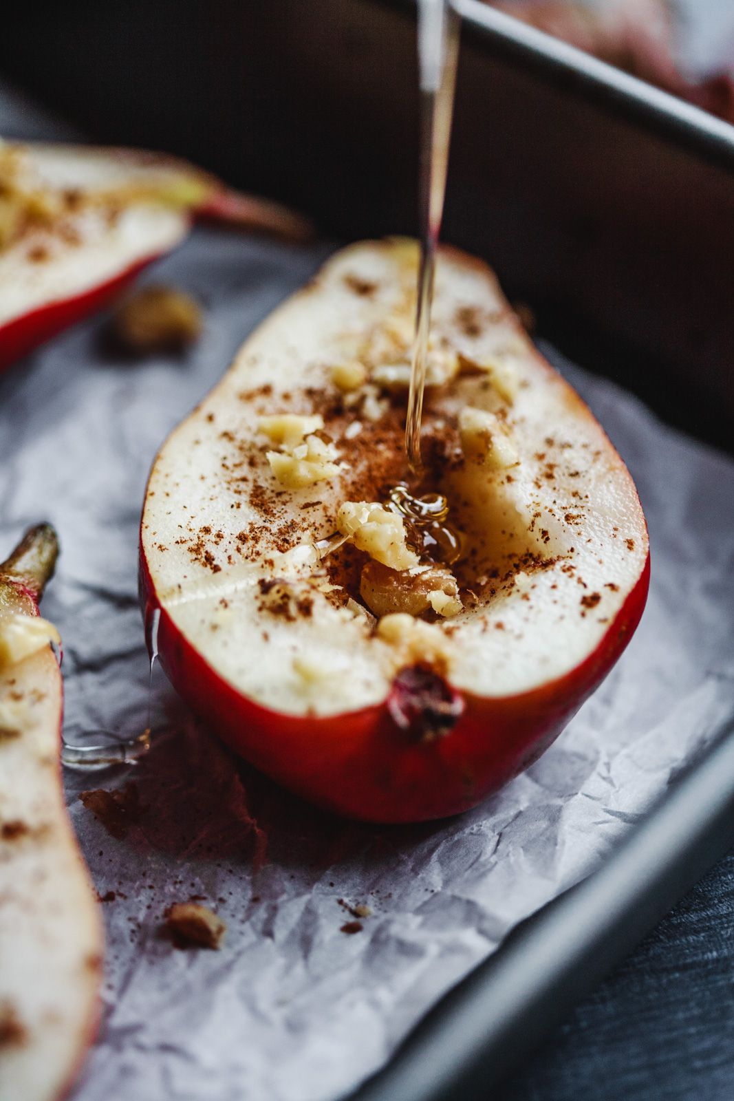Spiced Quinoa Pudding With Baked Pears With Honey and Nuts