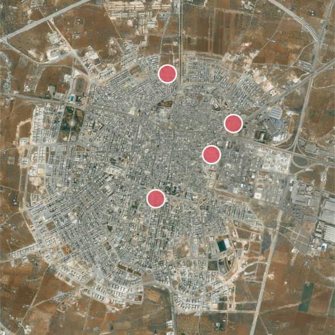 Impact Sites in Idlib
