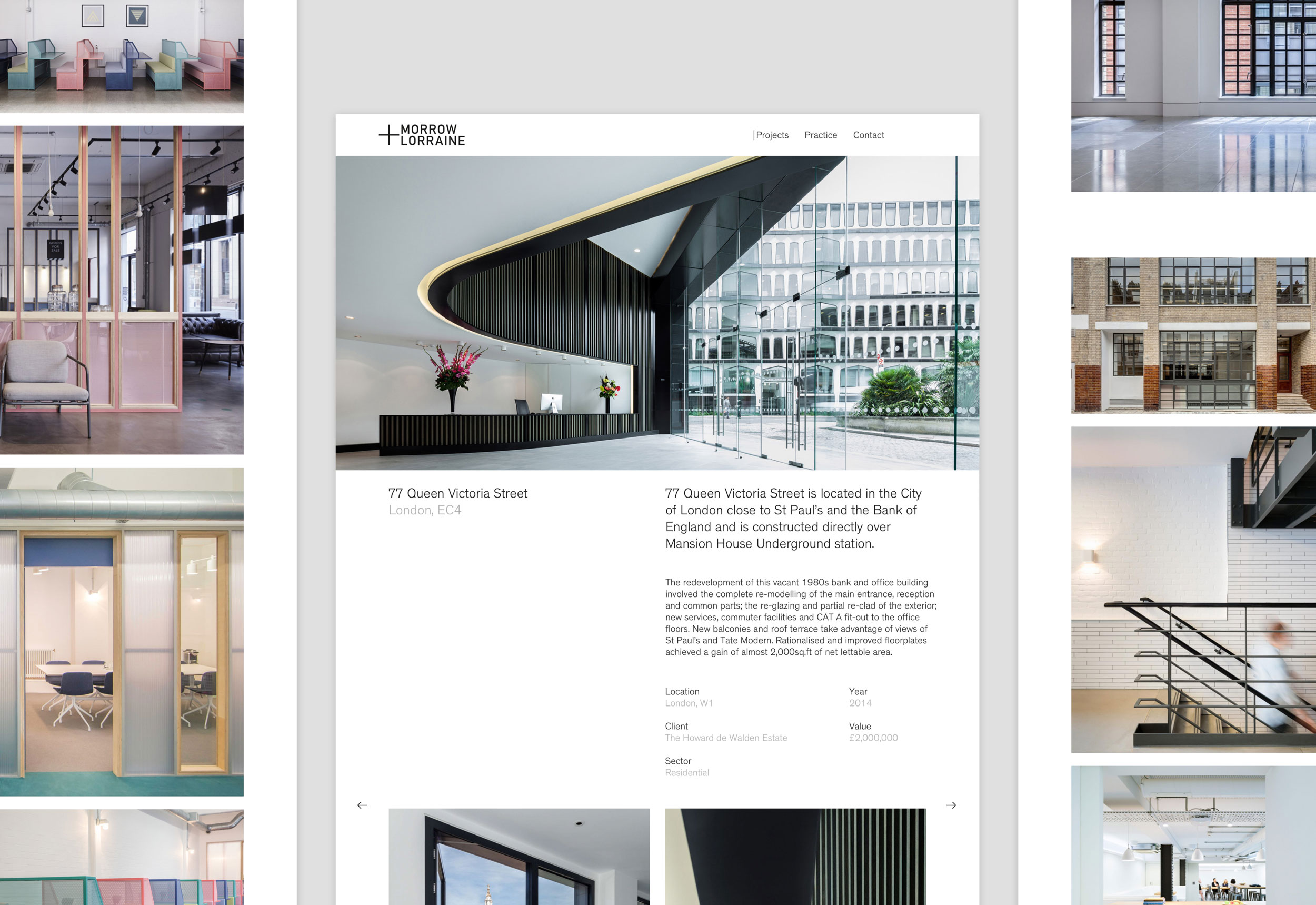 Morrow + Lorraine website designed by She Was Only