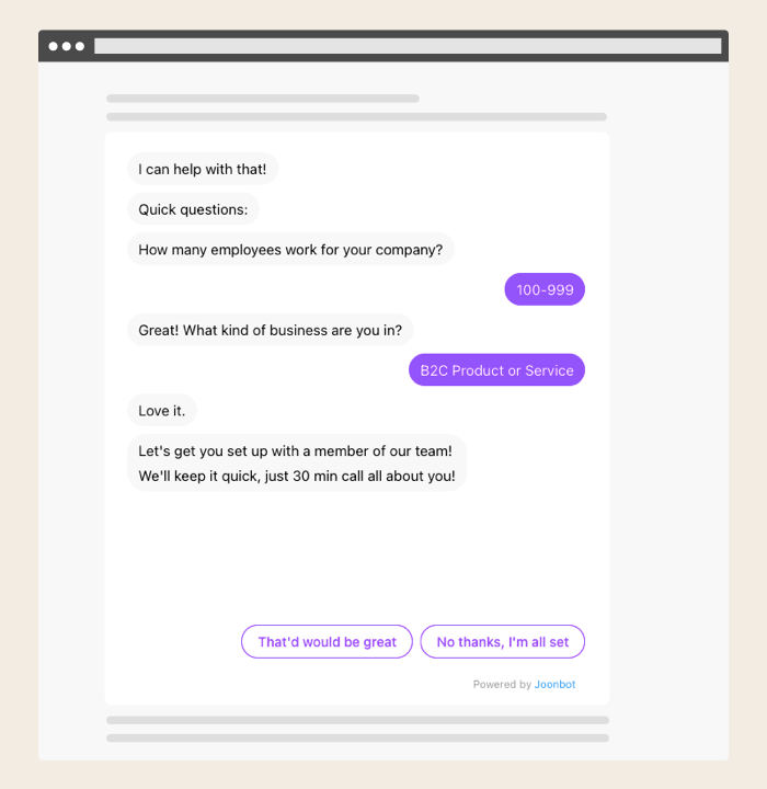 Make your own test chatbot with our test maker