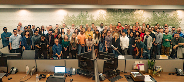 Adcetera team assembled in The Woodlands, Texas.