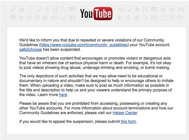 Censure de YouTube