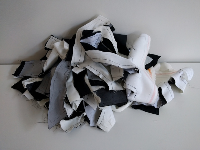 This are not scraps to be thrown out, but scraps to be made into a jacket