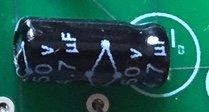 One 4.7uF capacitor