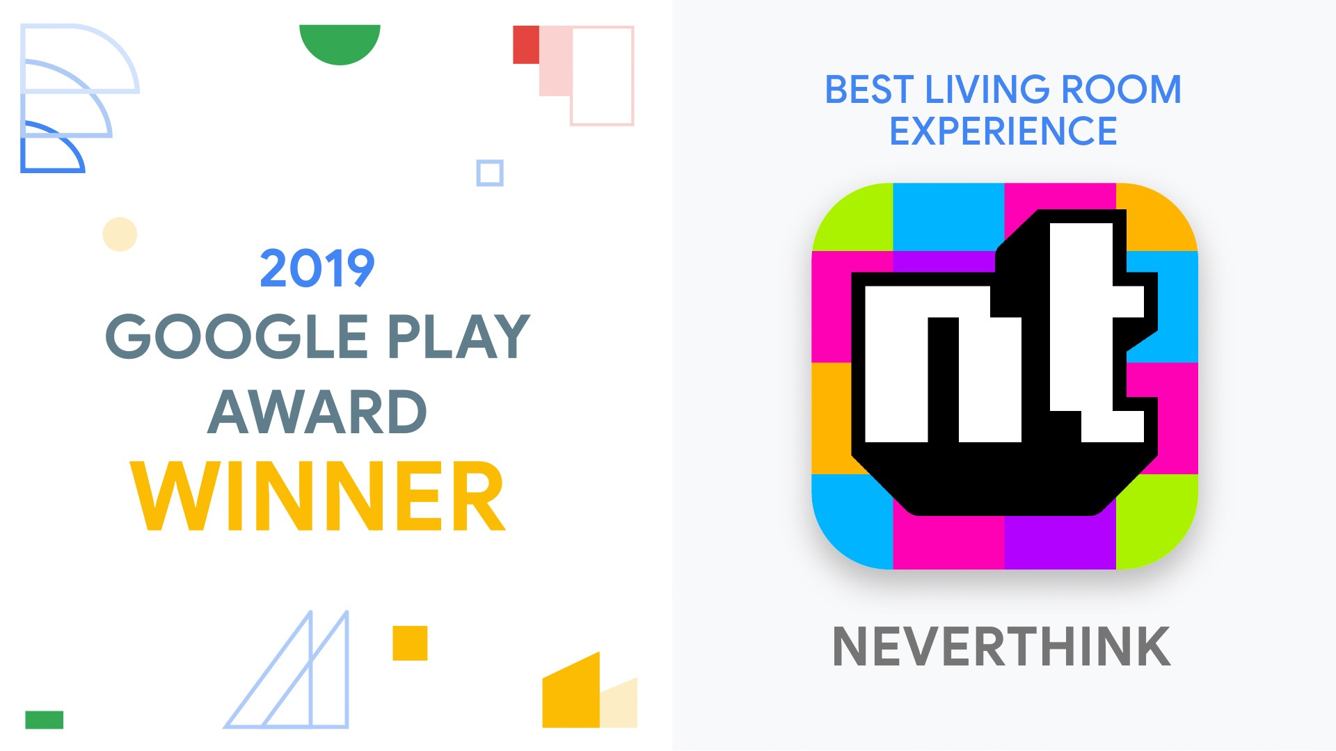 Neverthink selected as winner in the 2019 Google Play Awards