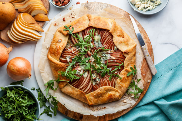 Pear and Blue Cheese Savoury Galette