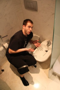 Man confused about using a bidet