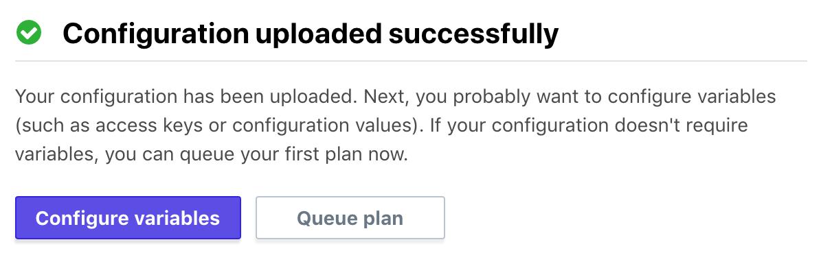 Configuration Successful