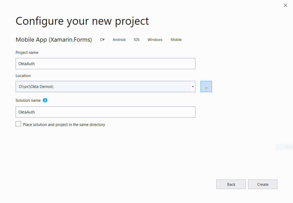 Configure your project