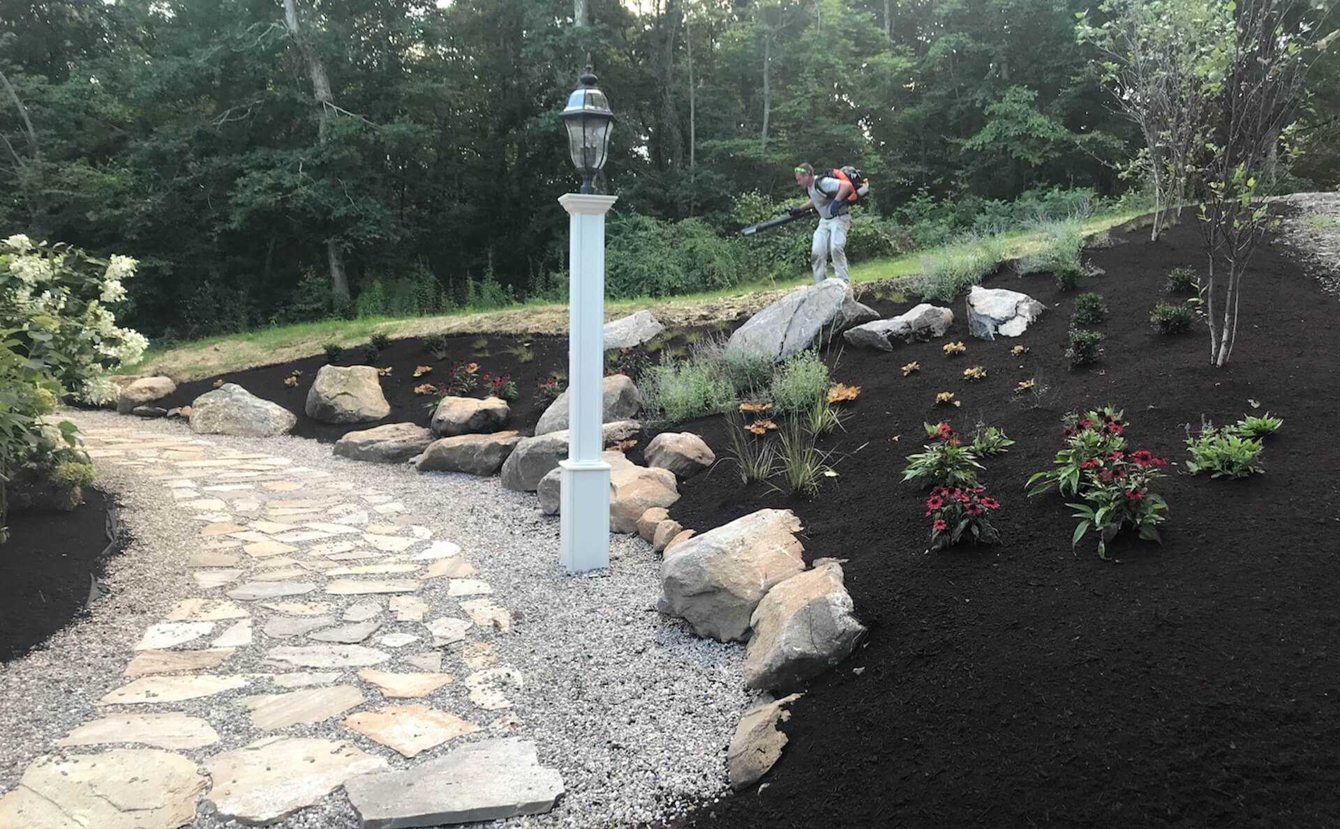 Falls River Retreat Residence catharine ann farnen landscape architecting