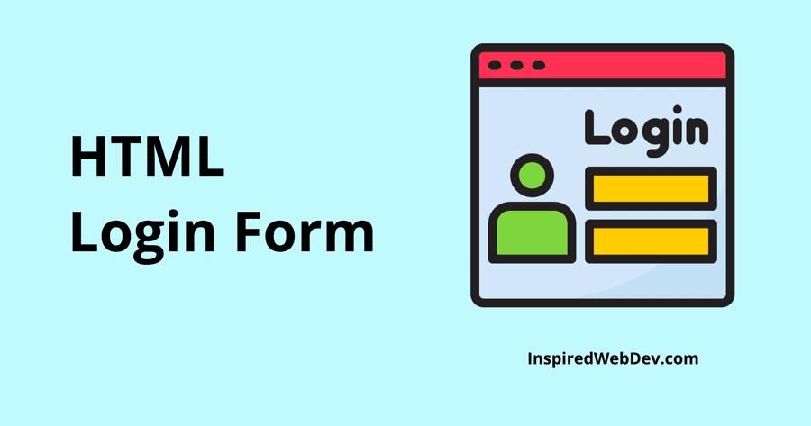 Tutorial - Create a Responsive HTML Login Form