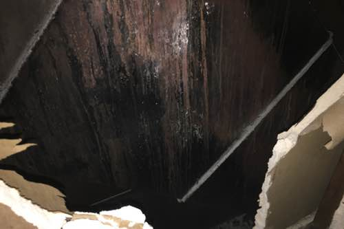 Damage from a kitchen exhaust system fire