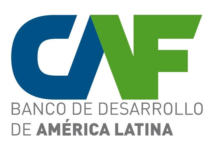 logo da empresa CAF: banco de desenvolvimento de Américas Latina