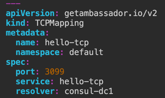 Bug Fix: Consul resolver bugfix with TCPMappings