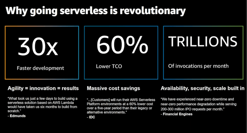 Building revolutionary applications the serverless way