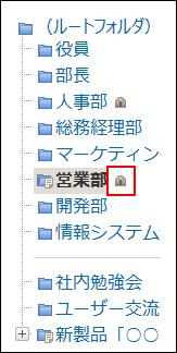 クセス権が設定されたフォルダのイメージ