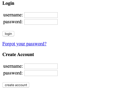 Hacker News login page